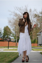 white maxi dress Vintage by Shevahh dress