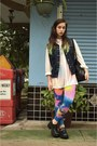 Bubble-gum-tie-dye-we-love-colors-leggings-black-vintage-bag