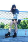 Black-faux-leather-h-m-shorts-black-satchel-forever-21-bag