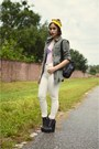 White-cheap-monday-jeans-olive-green-army-cotton-on-jacket