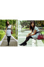 Silver-penshoppe-dress-purple-belt-black-shoes-red-lacoste-bag