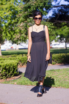 black vintage dress - black Cheap Monday sunglasses