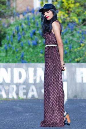 dark brown vintagev dress