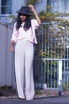 light pink vintage jumper - beige Topshop pants