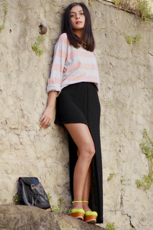 diy vintage skirt - Jeffrey Campbell shoes - vintage top