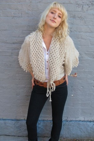 Candela NYC sweater - Bliss Lau belt - joes jeans - Trovata blouse