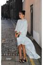 Silver-kurt-geiger-bag-periwinkle-topshop-jumper-silver-topshop-skirt