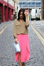 Perspex-missoni-sandals-periwinkle-zara-bag-hot-pink-pleated-topshop-skirt