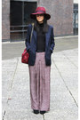 Maroon-topshop-hat-navy-zara-blazer-mulberry-bag-black-h-m-jumper
