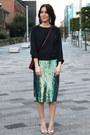 Crimson-trio-celine-bag-h-m-earrings-green-sequin-h-m-trend-skirt