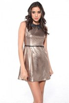 bronze Akira dress - battle spike Jeffrey Campbell pumps