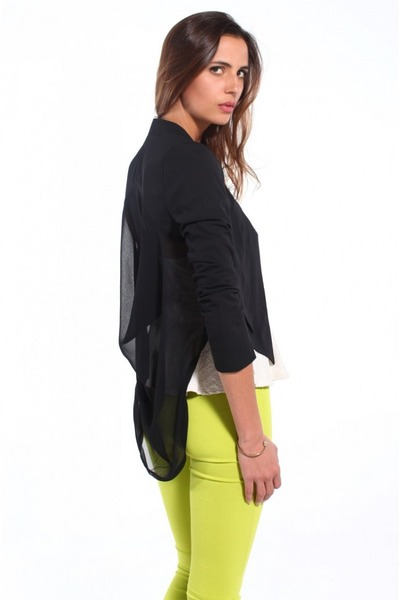 black Akira jacket - lime green Akira pants - black Jeffrey Campbell pumps