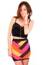 hot pink ShopGoldie skirt