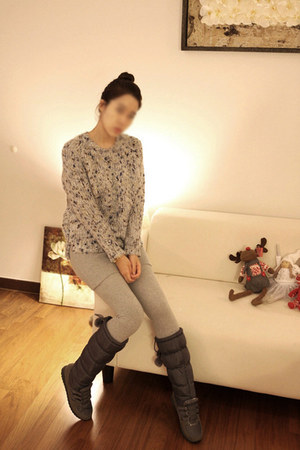 winter boots MatildaJ boots - marled sweater MatildaJ sweater