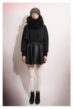 faux leather MatildaJ dress