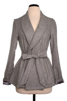 grey wrap coat Moon Collection coat