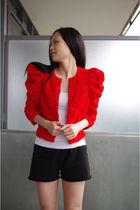 H&M garden collection jacket - Club Monaco shirt - Aritzia shorts