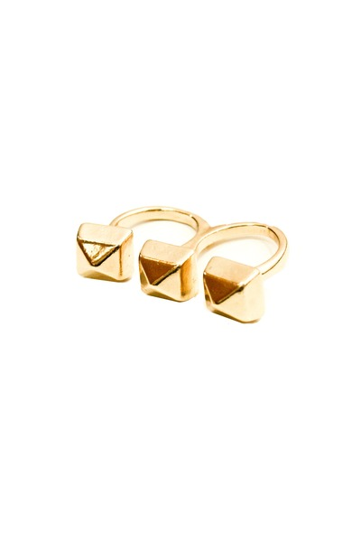 gold studded ring crossroads accessories