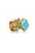turquoise blue Yves Saint Laurent ring