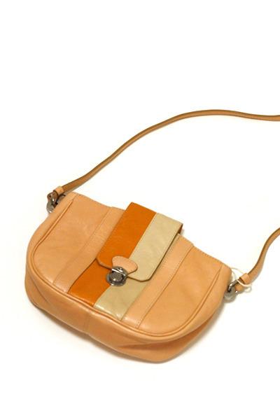 carrot orange stripes Marc Jacobs purse