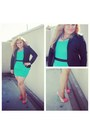 Mint-peplum-fancy-steps-dress-black-h-m-blazer