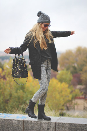 BLANCO boots - New Yorker jeans - BLANCO hat - BLANCO blazer - Parfois bag