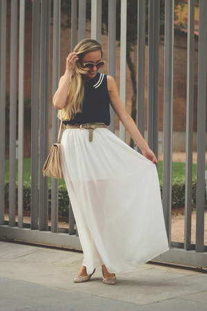kling dress - Zara bag - Ebay skirt - Anniel flats