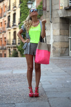 Messcalino shorts - H&M bag - Messcalino cardigan - Fashion Pills top