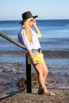 Zara hat - Suit Blanco shorts - H&M wallet - Rocket Dog flats