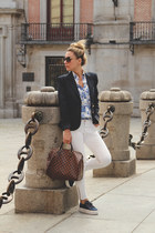 Louis Vuitton bag - Zara jeans - Pull & Bear blazer - SuitBlanco shirt