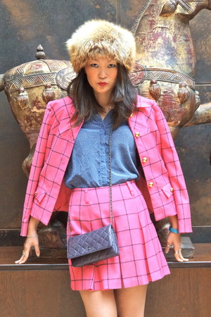 Anna Sui jacket - Chanel bag - Hackett socks - Topshop sandals - Anna Sui skirt