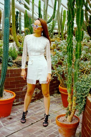 Three Floor dress - Termite Eyewear sunglasses - Zara heels