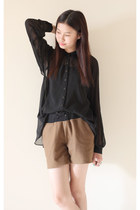 black Sportsgirl blouse