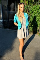 Zara dress - respect me adidas jacket - jasper conran sunglasses - Oysho sandals