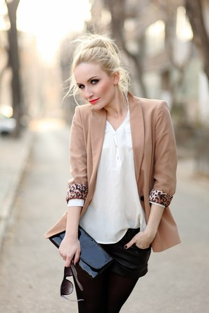 Zara blazer - vintage bag - BERSKA shorts - Lashez blouse