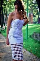asos skirt - corset asos top