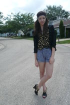 f21 shirt - f21 blouse -  shorts - TJMaxx shoes