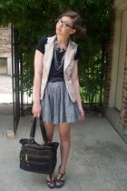 f21 vest - Wetseal shoes - TJMaxx purse - f21 skirt