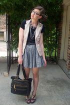 f21 vest - Wetseal shoes - TJMaxx purse - f21 skirt