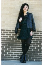Forever 21 jacket - Jessica Simpson dress - UrbanOG heels