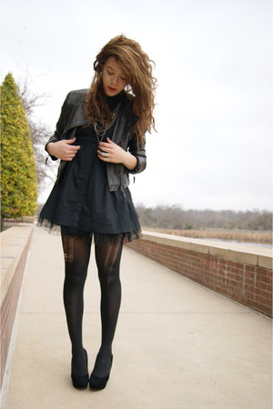 Forever 21 dress - Forever 21 jacket - UrbanOG wedges