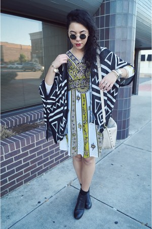 Buffalo Exchange dress - Urban Outfitters sunglasses - OASAP cardigan