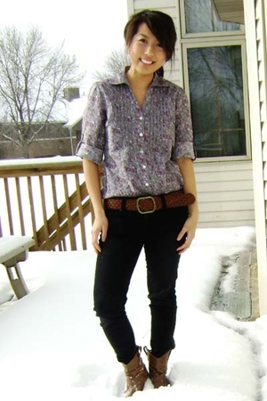 Wet Seal top - Forever 21 jeans - boots