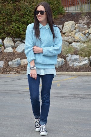light blue H&amp;M blouse