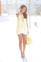 light yellow Sheinside blouse