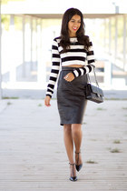 black Choies top - black Mango skirt
