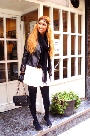white Fridays Project dress - black Chanel purse - black Sfera jacket