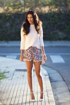 periwinkle Zara shorts