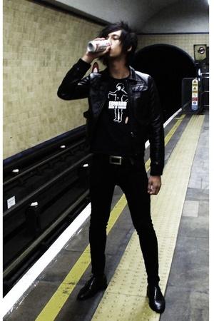 H&M jacket - Edward Scissorhands t-shirt - Cheap Monday jeans - vintage from Cam
