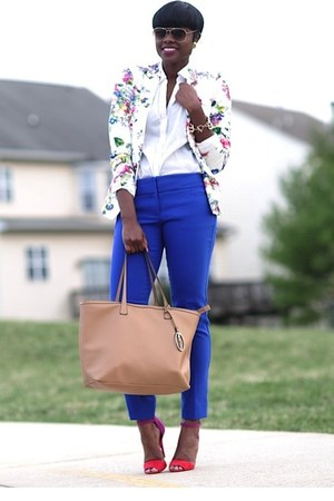 Zara blazer - Forever21 shirt - Kenneth Cole bag - The Limited pants